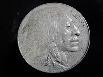 Vintage Buffalo Nickel Coin Bank  -  Has the Indian Chief On Top and Bottom