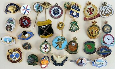 Collectable Enamelled Badges Bowling Clubs Rifle Club. Parkes Bishop Millers