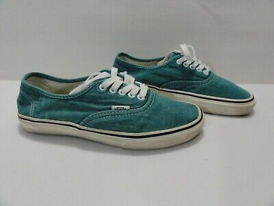 fe30e90a89 Vans Authentic Decon CA Washed Green Blue Slate Men 7.5 Women 9 OrthoLite  RARE