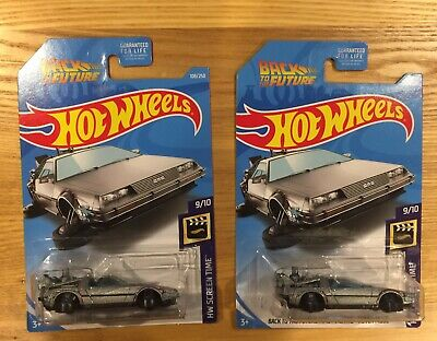 Hot Wheels 2019 Delorean Back To The Future Time Machine Hover Mode Lot Of 2