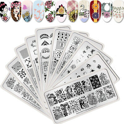 BORN PRETTY Nail Stamping Plates Spring Garden Flower Butterfly Stamp Template