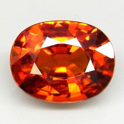 3.51ct.100%Natural Orange Mandarin Spessartite Garnet AAA Unheated Sparkling Gem