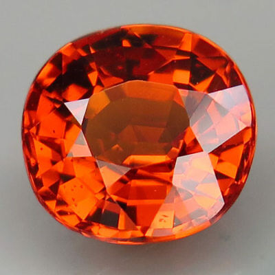 2.25ct.100%Natural Orange Mandarin Spessartite Garnet AAA Unheated Shinning Gem!