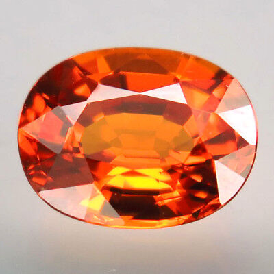 2.51ct.100%Natural Orange Mandarin Spessartite Garnet AAA Unheated Brilliant Gem