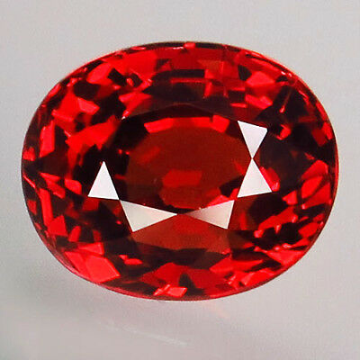 2.29ct.100%Natural  Orange Mandarin Spessartite Garnet AAA Unheated Glistening!