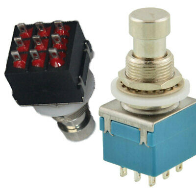 3 PDT 9-Pin Push Button Foot Switch True Bypass On-On High Quality New