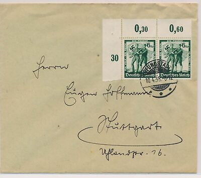 LJ65768 Germany 1938 fine cover with nice cancels used