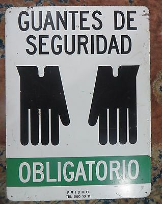 "Safety Marine IMO symbolic Enamel Back Sign Guantes de seguridad ""Safety Gloves"""