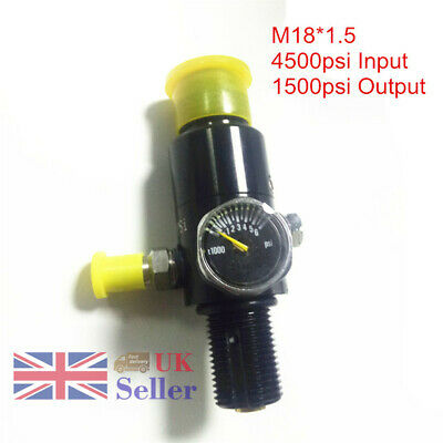 4500Psi M18x1.5 Paintball Valve Regulator 1500psi Output Air Tank High Tension