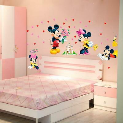 DIY Cartoon Mickey & Minnie Mouse wall stickers for kids room