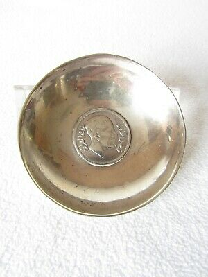 Rare Antique High Purity Solid Silver Coin Dish; UNKNOWN Middle Eastern Coin