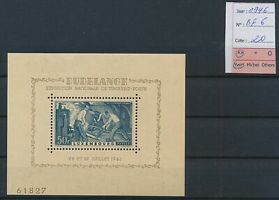LJ76956 Luxembourg 1946 stamp expo industry sheet MNH cv 20 EUR