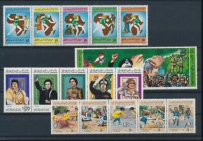 LJ75423 Libya Khadaffi childrens games fine lot MNH