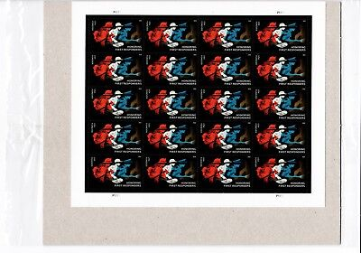 USPS Item #478104 - MINT Sheet of (20) Honoring FIRST RESPONDERS forever stamps