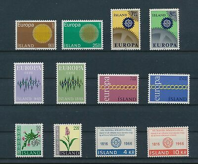 LJ75551 Iceland Europa CEPT nice lot of good stamps MNH