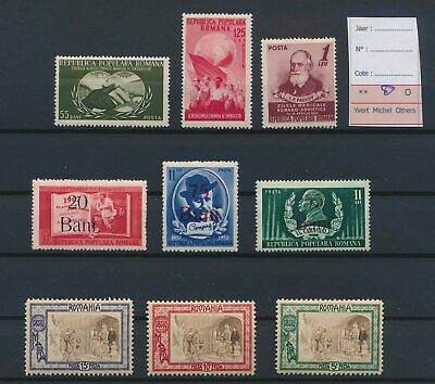 LJ77372 Romania good lot of better stamps fine MH