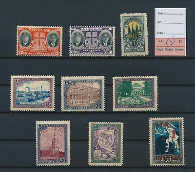 LJ77378 Lithuania good lot of better stamps fine MH