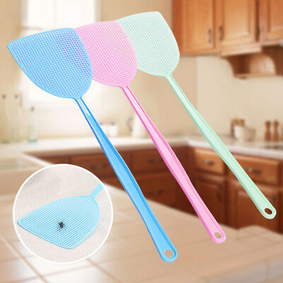 Summer Plastic Fly Swatter Long Handle Mosquito Control Insects Useful HOT AU c1