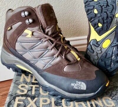 248436218 THE NORTH FACE Men's Storm Mid Waterproof Leather Hiking BOOTS Size 11 NEW