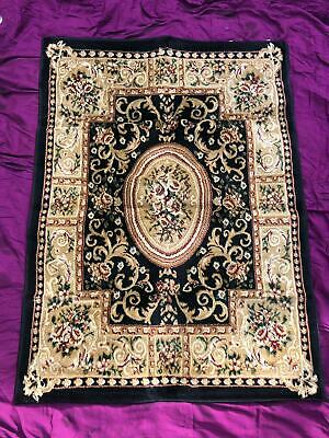 New Traditional Vintage Style Persian Rug Design Oriental Carpet Black Dream Rug