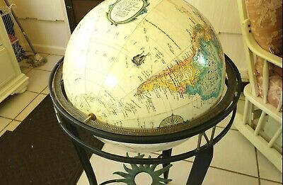 "Pre-owned Replogle16"" Diameter World Globe World Classic Series With Metal Stand"