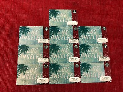 10 New Starbucks Los Angeles 2017 City Gift Cards Lot