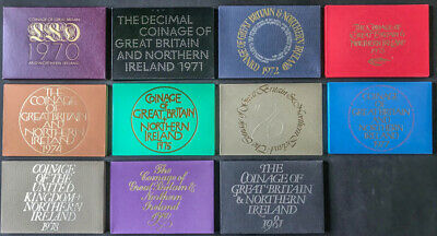 ROYAL MINT PROOF COIN YEAR SETS 1970 TO 1999 - Ideal Birthday Gifts