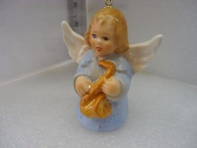 GOEBEL ANGEL BELL ORNAMENT 1980 blue