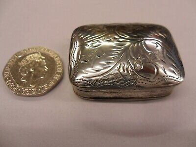 Solid Silver Trinket Box Imported Hallmarked Mg & Sa 925 (Lot2)