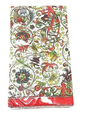 """BRAND NEW /""""Lotus Leaf/"""" 15 Hostess Triple-Ply Napkins by Michel Design Works"""