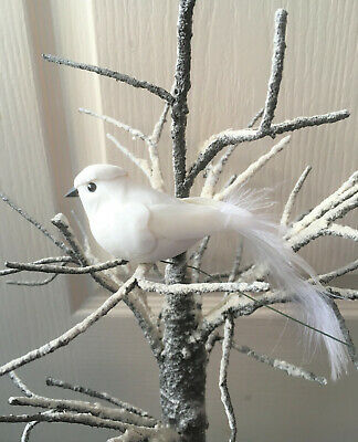 Artificial White Feather Dove - Wedding Dove Bird