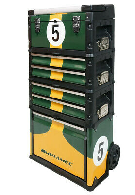 Motamec Modular Tool Box Trolley Mobile Cart Cabinet Chest Racing Green C41H