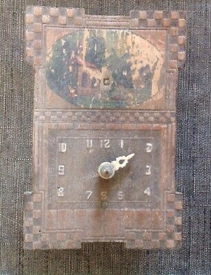 Antique Cuckoo Clock Style, 8x12x5cm For Restoration, Clockmakers Parts