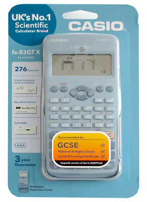 Casio fx-83GTX Scientifique Calculatrice Bleu UK Version Neuf et Emballage