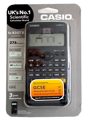 Casio fx-83GTX Scientifique Calculatrice Noir UK Version Neuf et Emballage