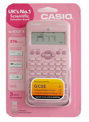 Casio fx-83GTX Scientifique Calculatrice Rose UK Version Neuf et Emballage