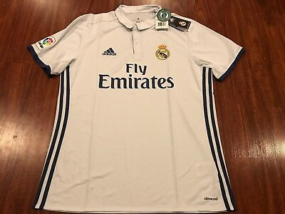 2016-17 ADIDAS REAL Madrid Men s Home Soccer Jersey Large L La Liga ... 5ef8cf201a023