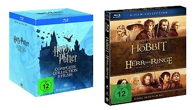 HARRY POTTER Complete 1-7.2 +Herr der Ringe MITTELERDE 14 BLU-RAY Box Collection
