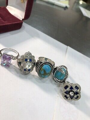 Vintage Sterling Silver Jewelry Lot Signed