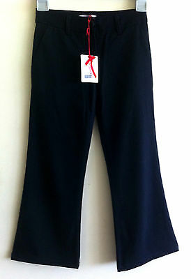 DENNY ROSE young girl trousers school uniform sz XS black rrp 70 euro £50