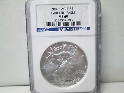 2009 American Eagle Silver Dollar NGC MS 69 Early Releases