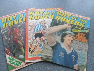 Roy of the Rovers. May 12, July 28 '79. July 26 '80. VG .32 pages each.