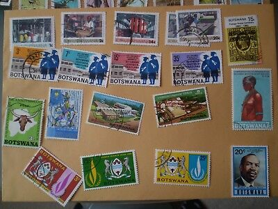 Botswana  stamps - a selection of  modern stamps