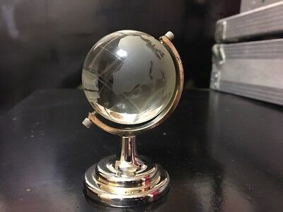 Russian  Globe  USSR Rock Crystal/Bronze Soviet Space Program
