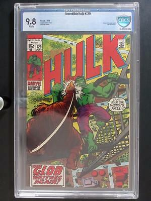 Incredible Hulk #129 -MINT- CBCS 9.8 NM/MT - Marvel 1970 - HIGHEST GRADE!!!