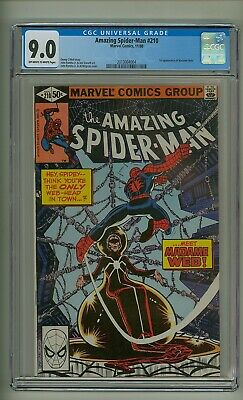 Amazing Spider-Man 210 (CGC 9.0) OW/W pages; 1st app. Madame Web; 1980 (c#22526)