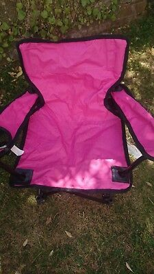 Pink childs fold up chair