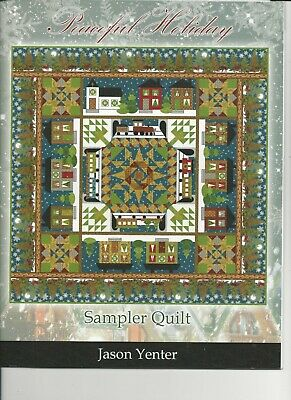 "Quilt Kit - Peaceful Holiday Sampler Kit by Jason Yenter Book & Fabric ""Night"""