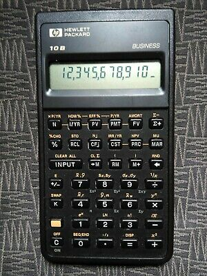 HP 10B Business Financial Scientific Calculator Hewlett Packard 1987 Singapore