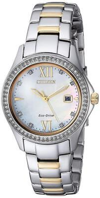 Citizen Eco Drive Womens Quartz Stainless Steel Casual Watch   FE1144-85B NWOT